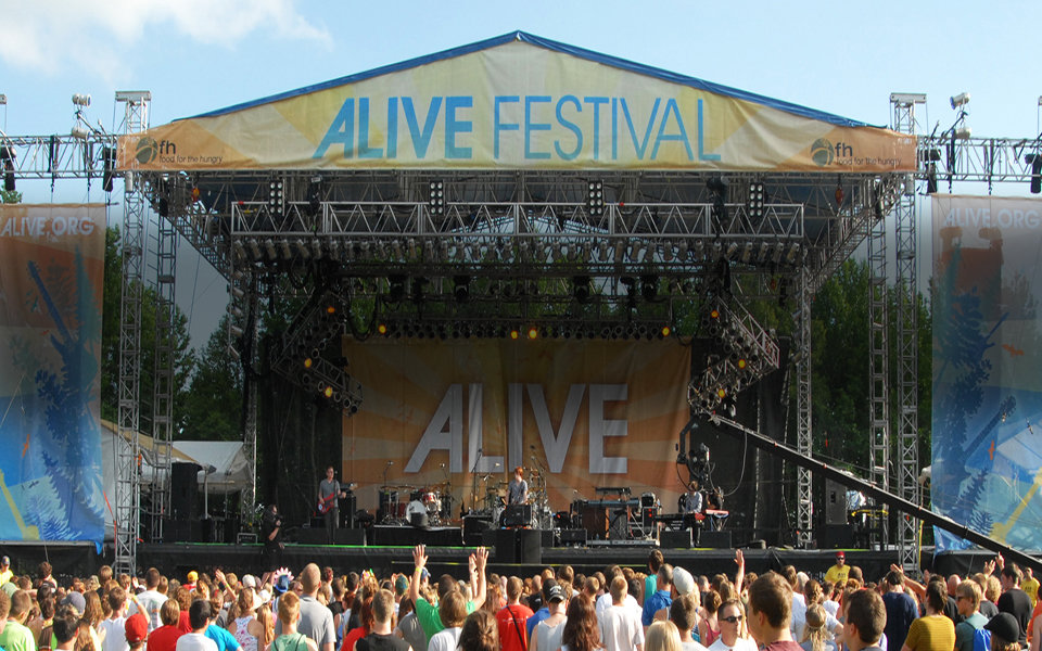 Alive Festival - Mustic Festival - NorthCoast Banners - Stage Banner - Festival Banner
