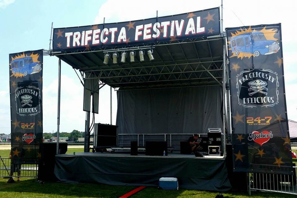 70/30 Vinyl Mesh Stage Banner - NorthCoast Banners