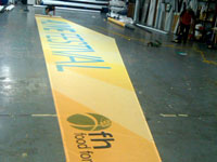 Banners for the Alive Festival Being Completed
