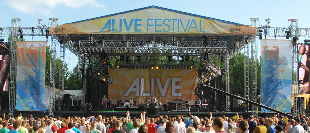 Alive Festival Stage Backdrops and Band Scrims