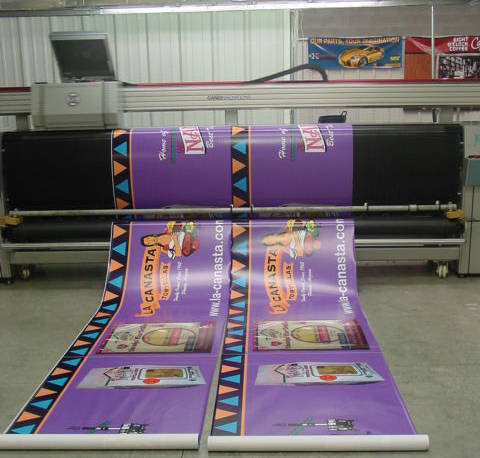 Digitally printed banners for La Canasta