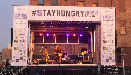 Stay Hungry Purple Tailgate Banners